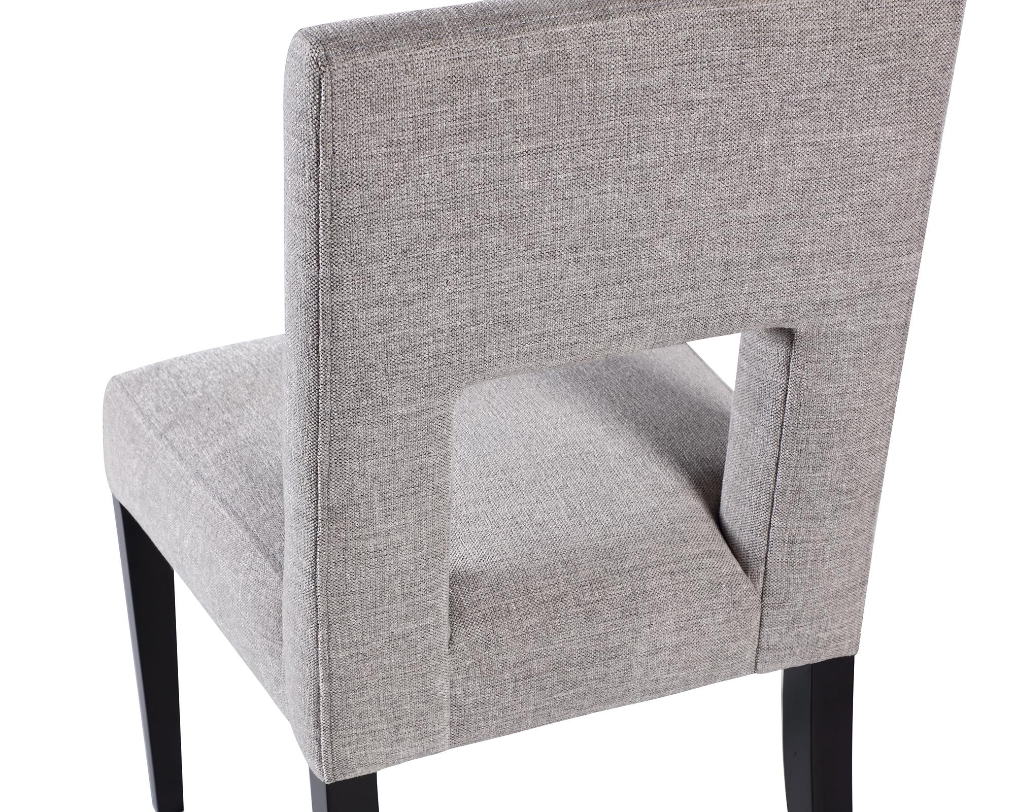 L&E Venice Dining Chair – Ash Grey Chenille (MY-DCH-016) (1)
