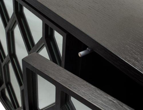 Liang & Eimil – Geo Sideboard – Wenge Oak-Mirror (1)