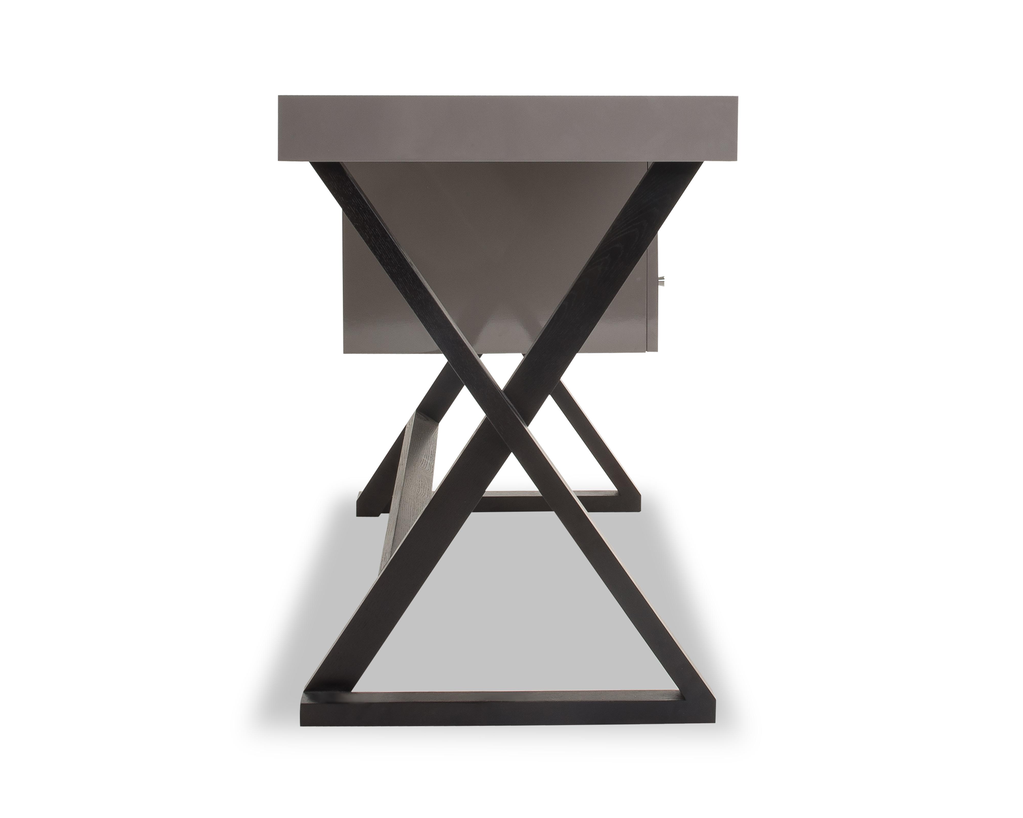 Liang & Eimil – Manhattan Desk – Taupe High Gloss (5)
