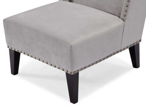 Liang & Eimil – Dixon Occasional Chair – Fog Grey Velvet