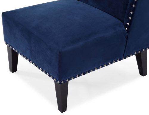 Liang & Eimil – Dixon Occasional Chair – Marine Blue Velvet