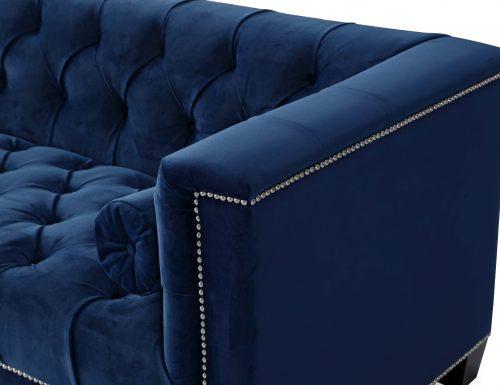 Liang & Eimil – Monroe 3 Seater Sofa – Marine Blue Velvet