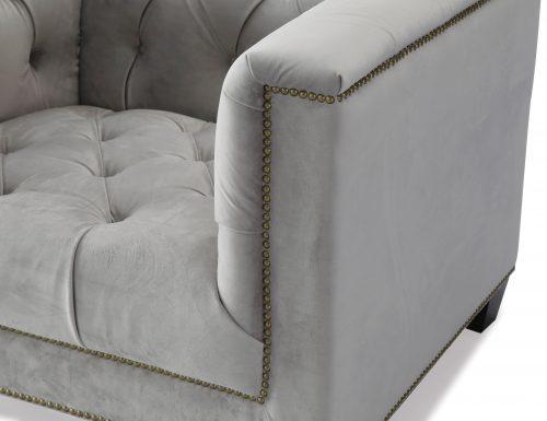 Liang & Eimil – Monroe Occasional Chair – Fog Grey Velvet