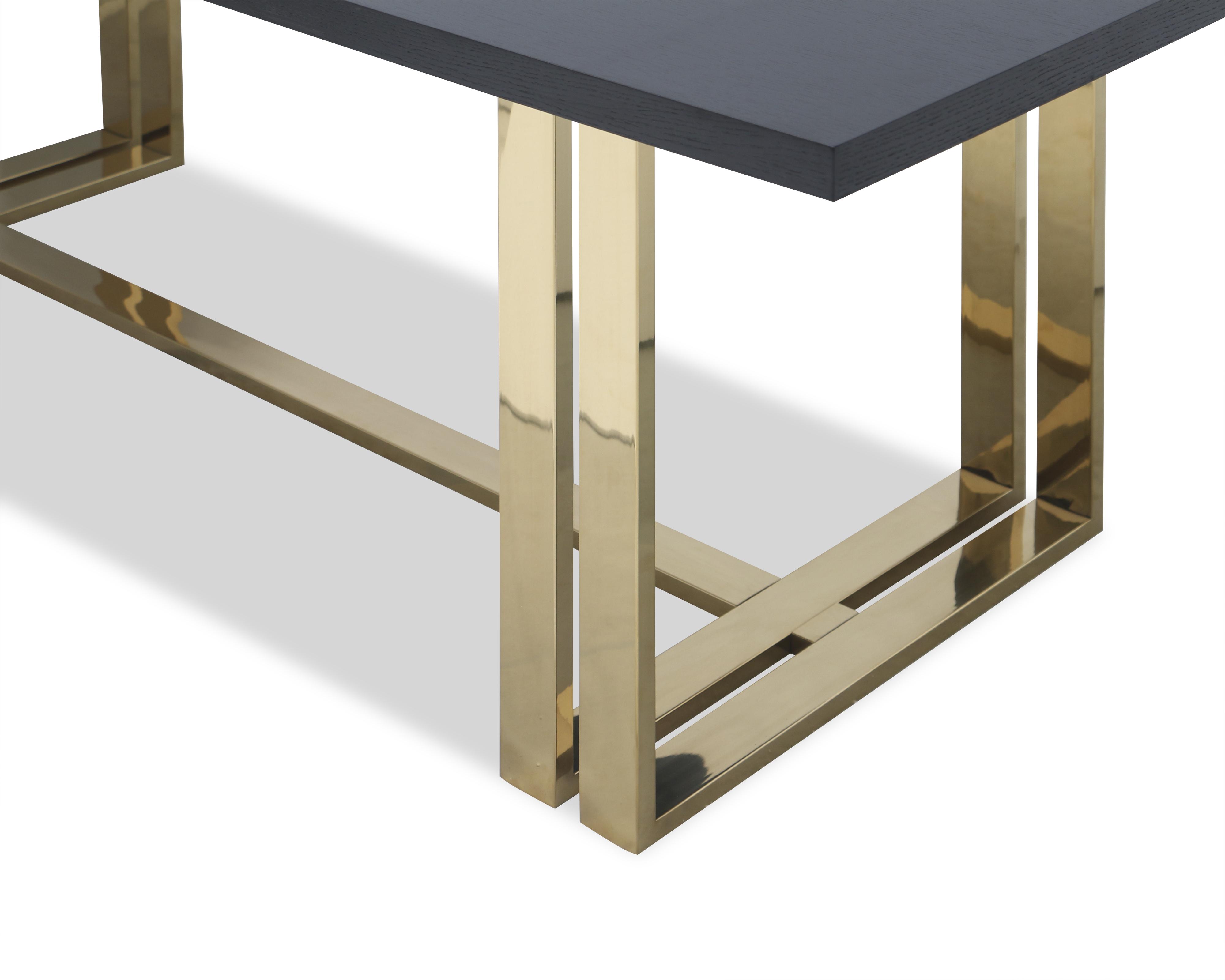 Liang & Eimil – Lennox Dining Table – Brass (4)