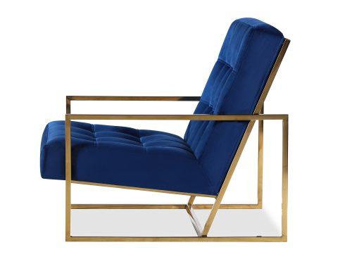 Liang & Eimil Nova Occasional Chair – Marine Blue Velvet PB (1)