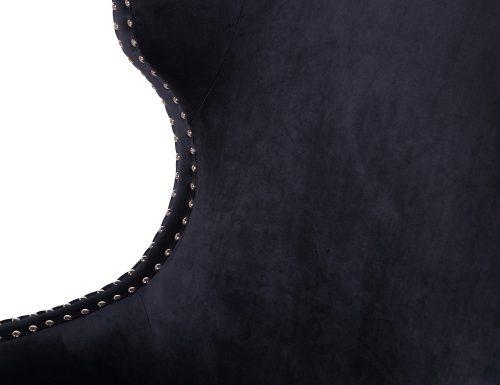L&E Holborn Occasional Chair – Deep Black Velvet (MY-OCH-006) (2)