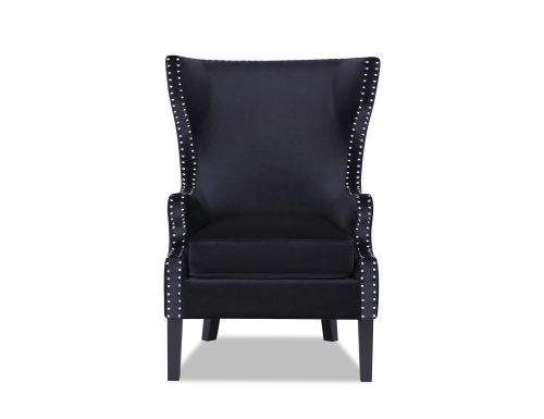 L&E Holborn Occasional Chair – Deep Black Velvet (MY-OCH-006) (3)