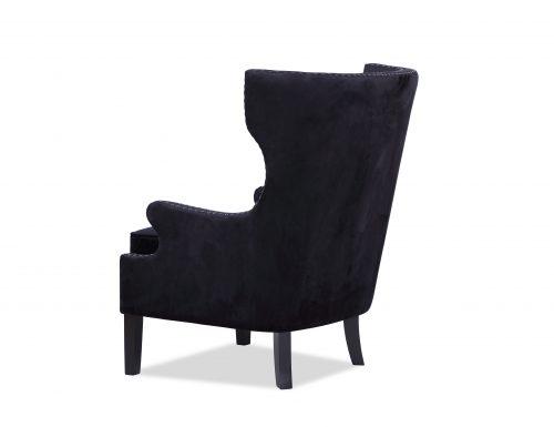 L&E Holborn Occasional Chair – Deep Black Velvet (MY-OCH-006) (4)