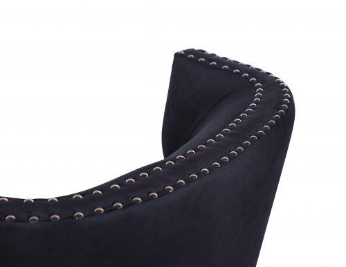 L&E Holborn Occasional Chair – Deep Black Velvet (MY-OCH-006) (5)