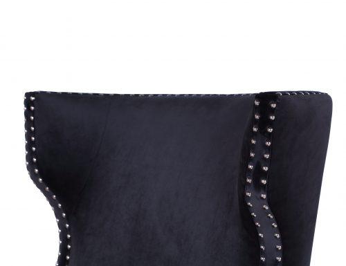 L&E Holborn Occasional Chair – Deep Black Velvet (MY-OCH-006) (6)