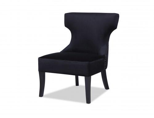 L&E Jazz Occasional Chair – Deep Black Velvet (MY-OCH-012) (2)