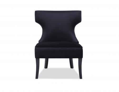 L&E Jazz Occasional Chair – Deep Black Velvet (MY-OCH-012) (3)