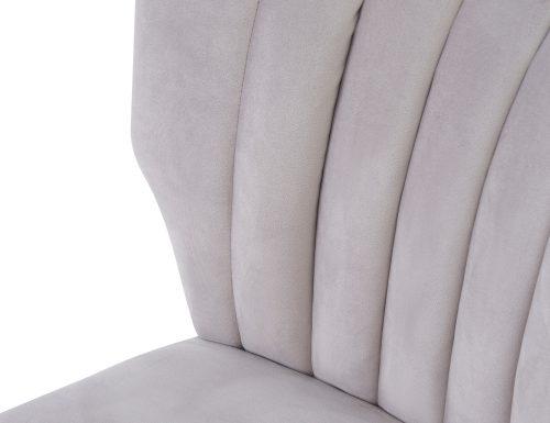 Liang & Eimil Agatha Occasional Chair – Fog Grey Velvet (5)
