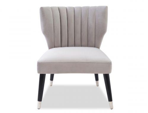 Liang & Eimil Agatha Occasional Chair – Fog Grey Velvet (6)
