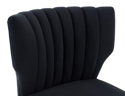 Liang & Eimil Agatha Occasional Chair – Pitch Black Velvet (5)