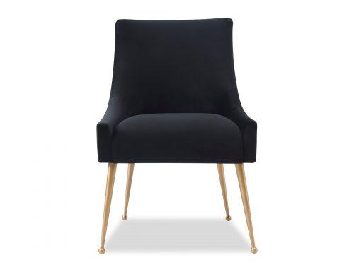 Liang & Eimil Cohen Dining Chair – Pitch Black Velvet (1)
