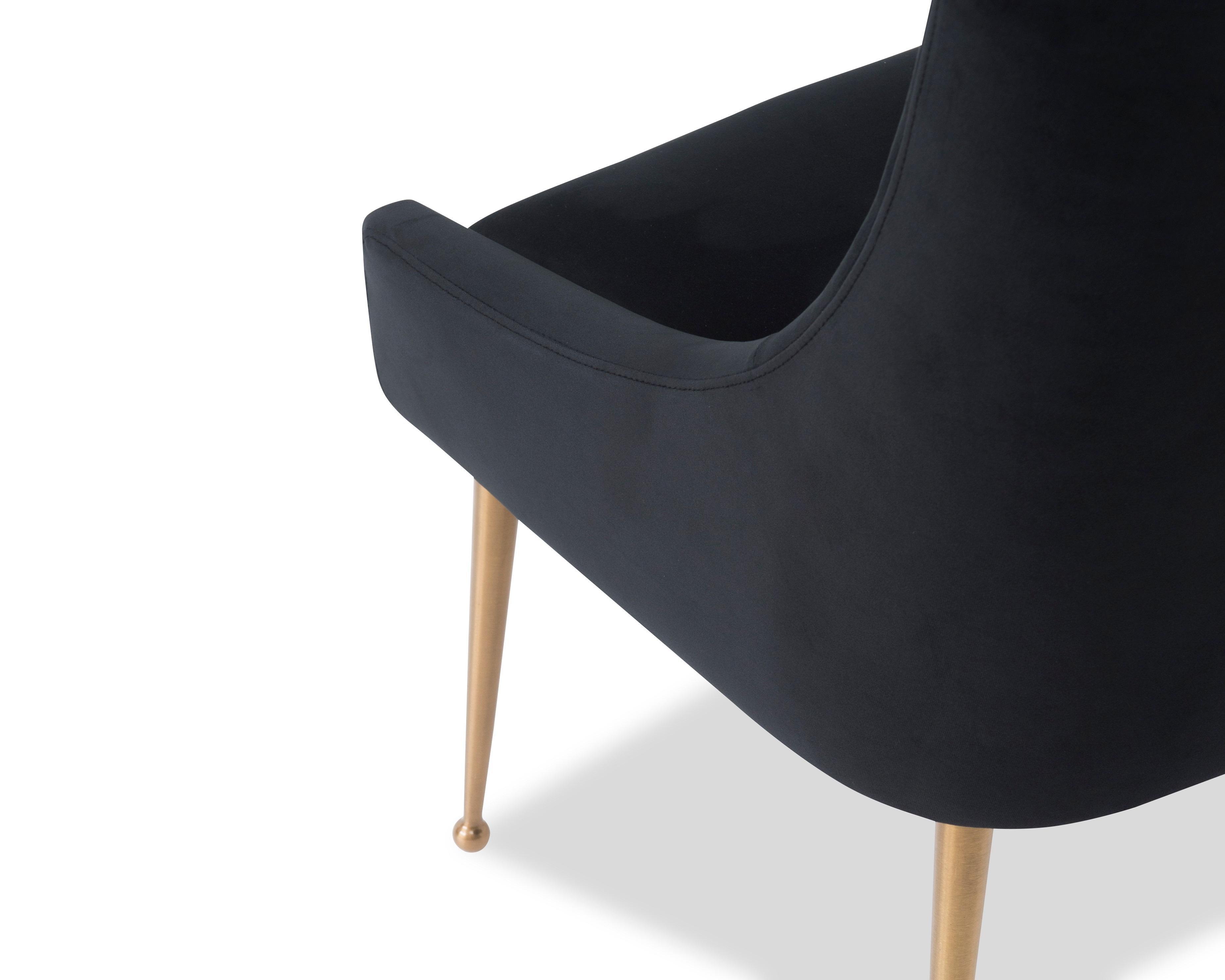 Liang & Eimil Cohen Dining Chair – Pitch Black Velvet (6)