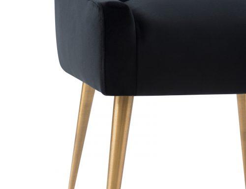 Liang & Eimil Cohen Dining Chair – Pitch Black Velvet (8)