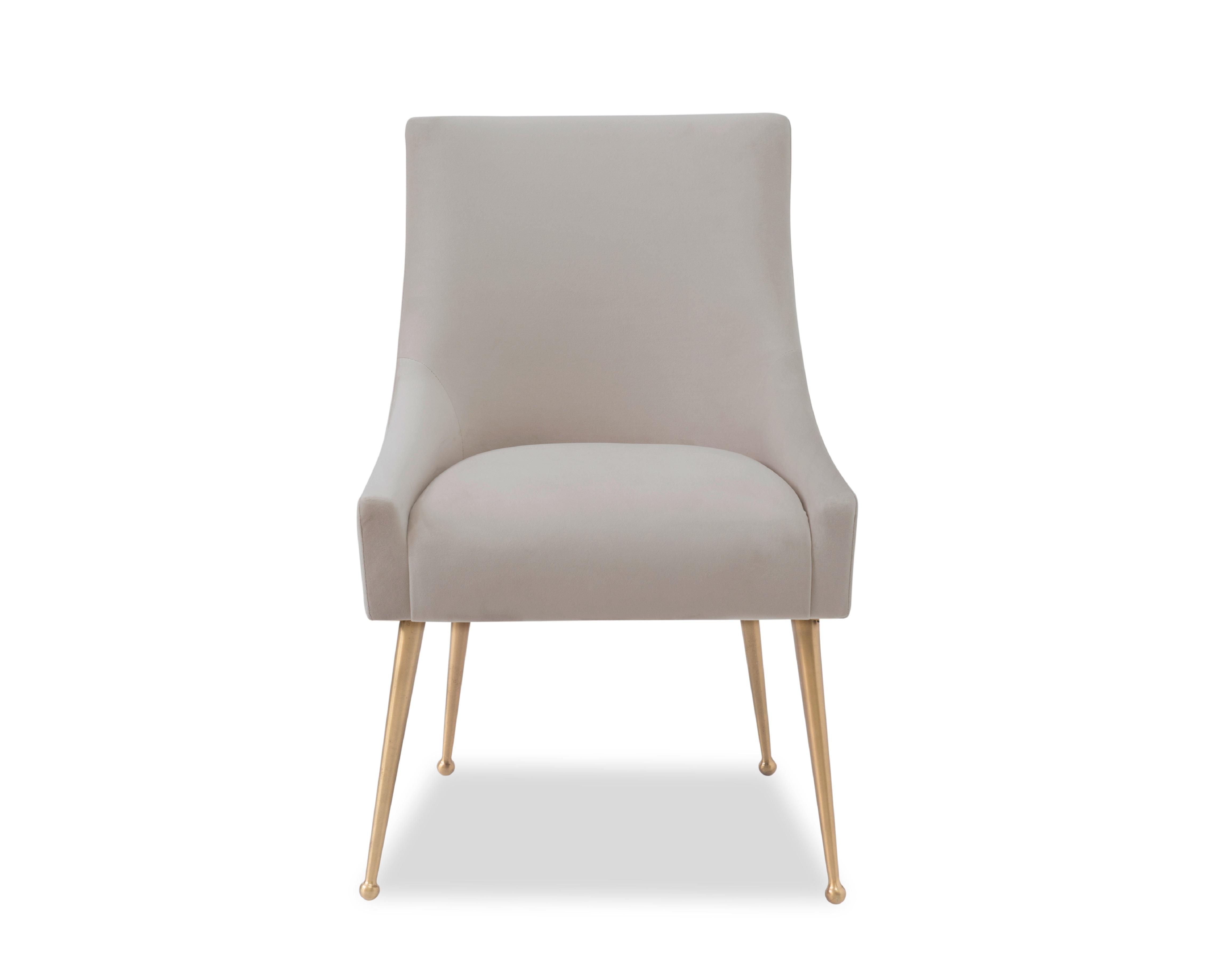 Liang & Eimil Cohen Dining Chair – Tan Beige Velvet (1)