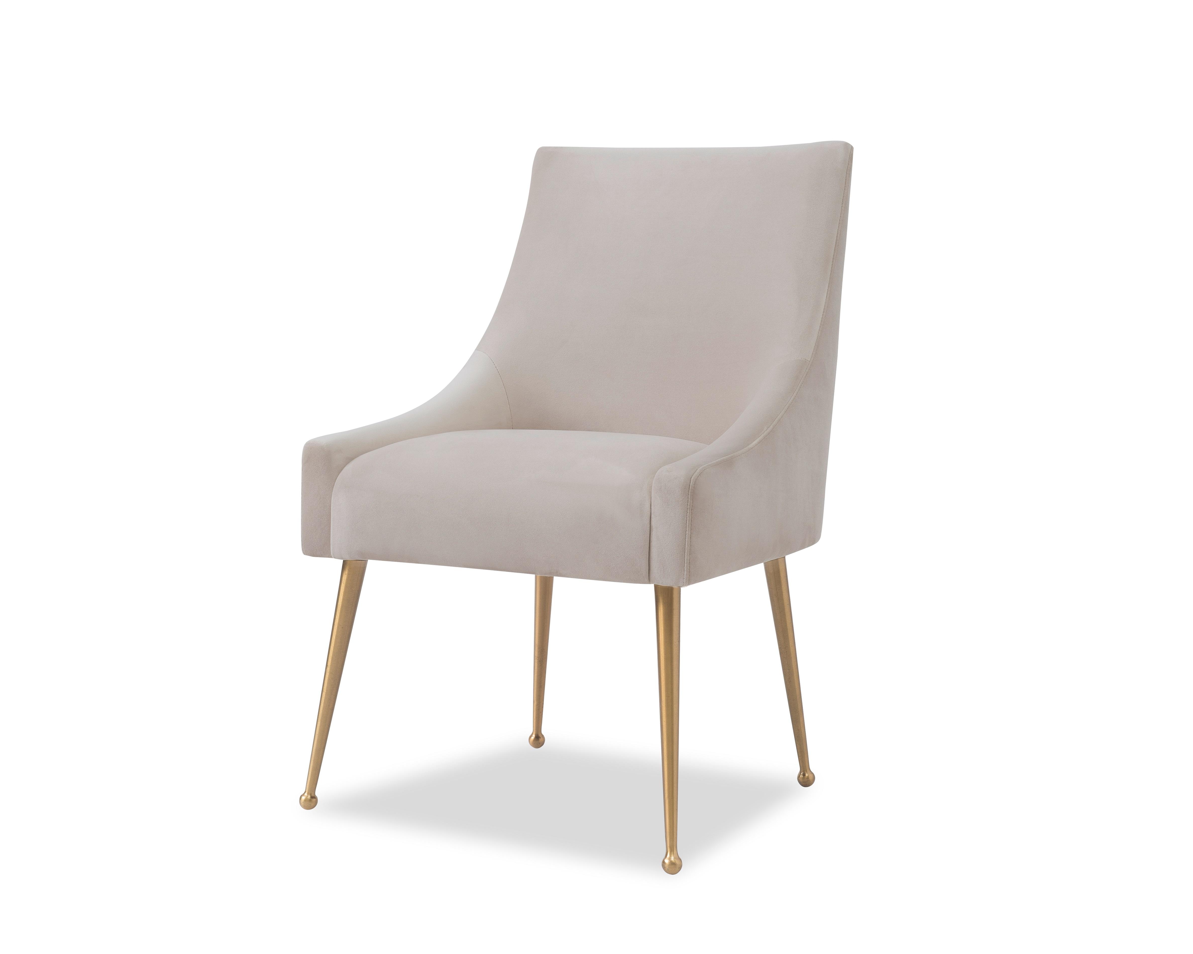 Liang & Eimil Cohen Dining Chair – Tan Beige Velvet (2)