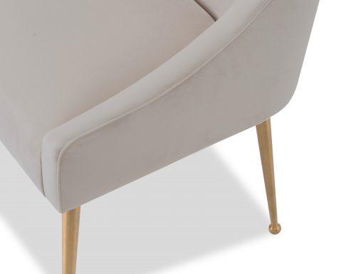 Liang & Eimil Cohen Dining Chair – Tan Beige Velvet (6)