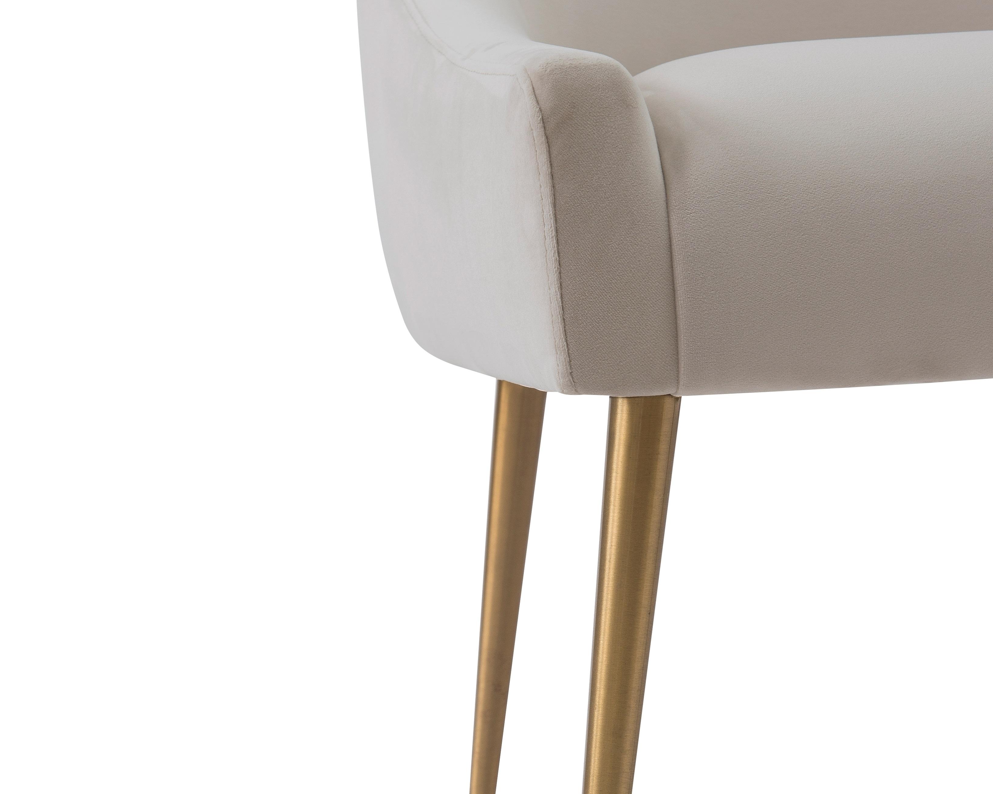 Liang & Eimil Cohen Dining Chair – Tan Beige Velvet (7)