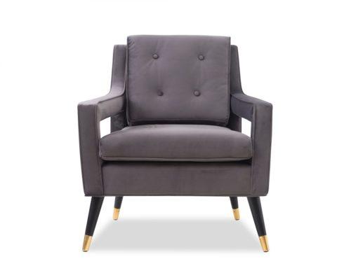 Liang & Eimil Edward Occasional Chair – Night Grey Velvet (1)