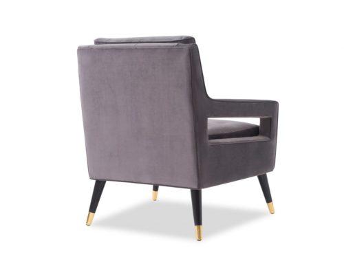 Liang & Eimil Edward Occasional Chair – Night Grey Velvet (4)