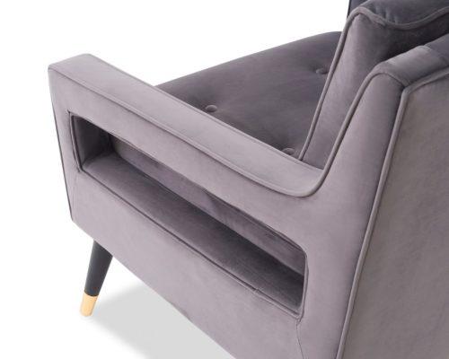 Liang & Eimil Edward Occasional Chair – Night Grey Velvet (6)