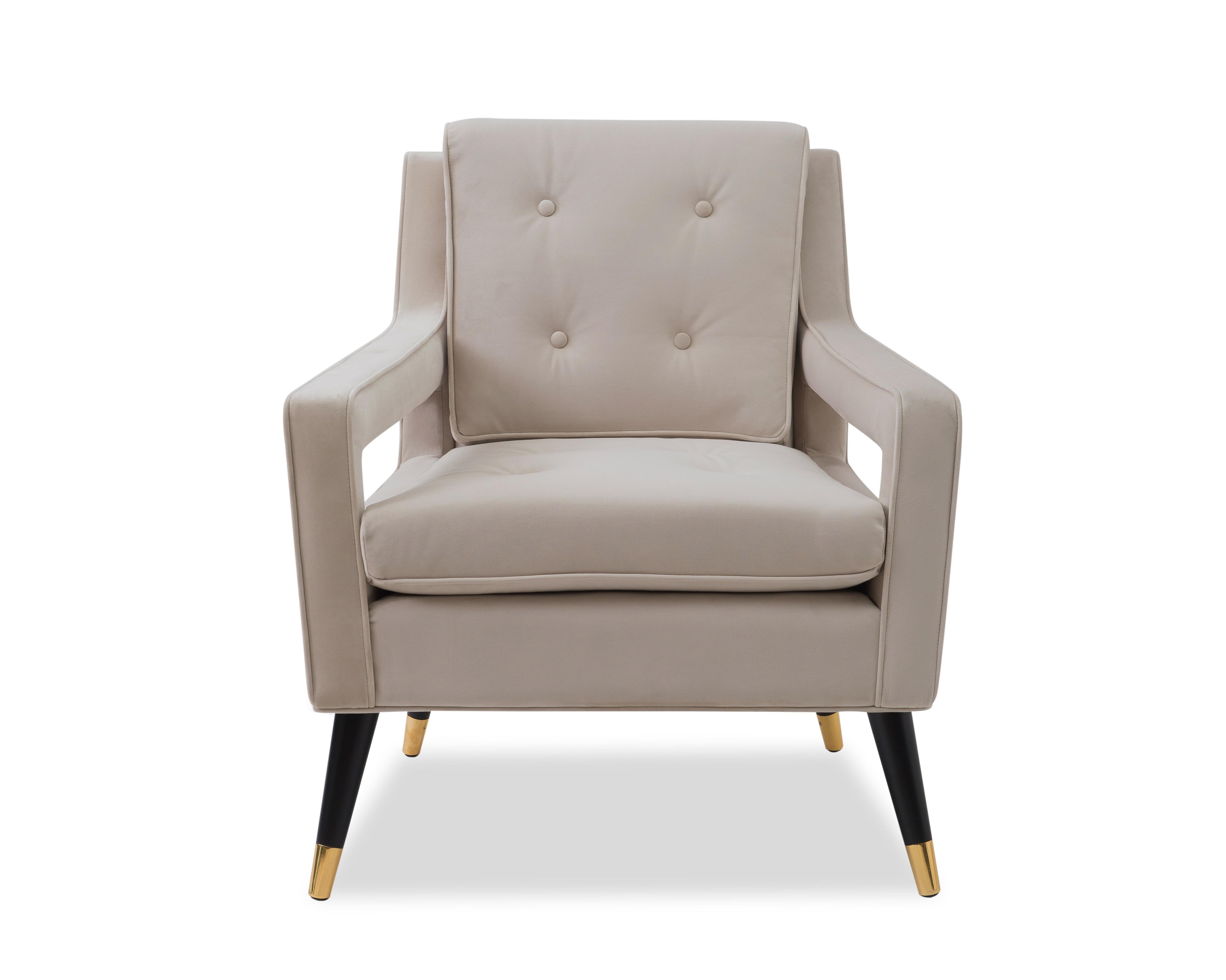Liang & Eimil Edward Occasional Chair – Tan Beige Velvet (1)
