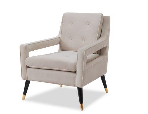 Liang & Eimil Edward Occasional Chair – Tan Beige Velvet (2)