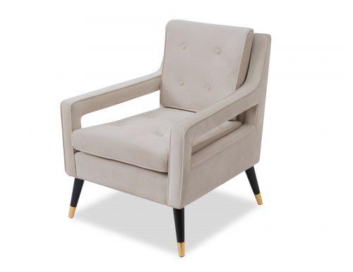 Liang & Eimil Edward Occasional Chair – Tan Beige Velvet (3)