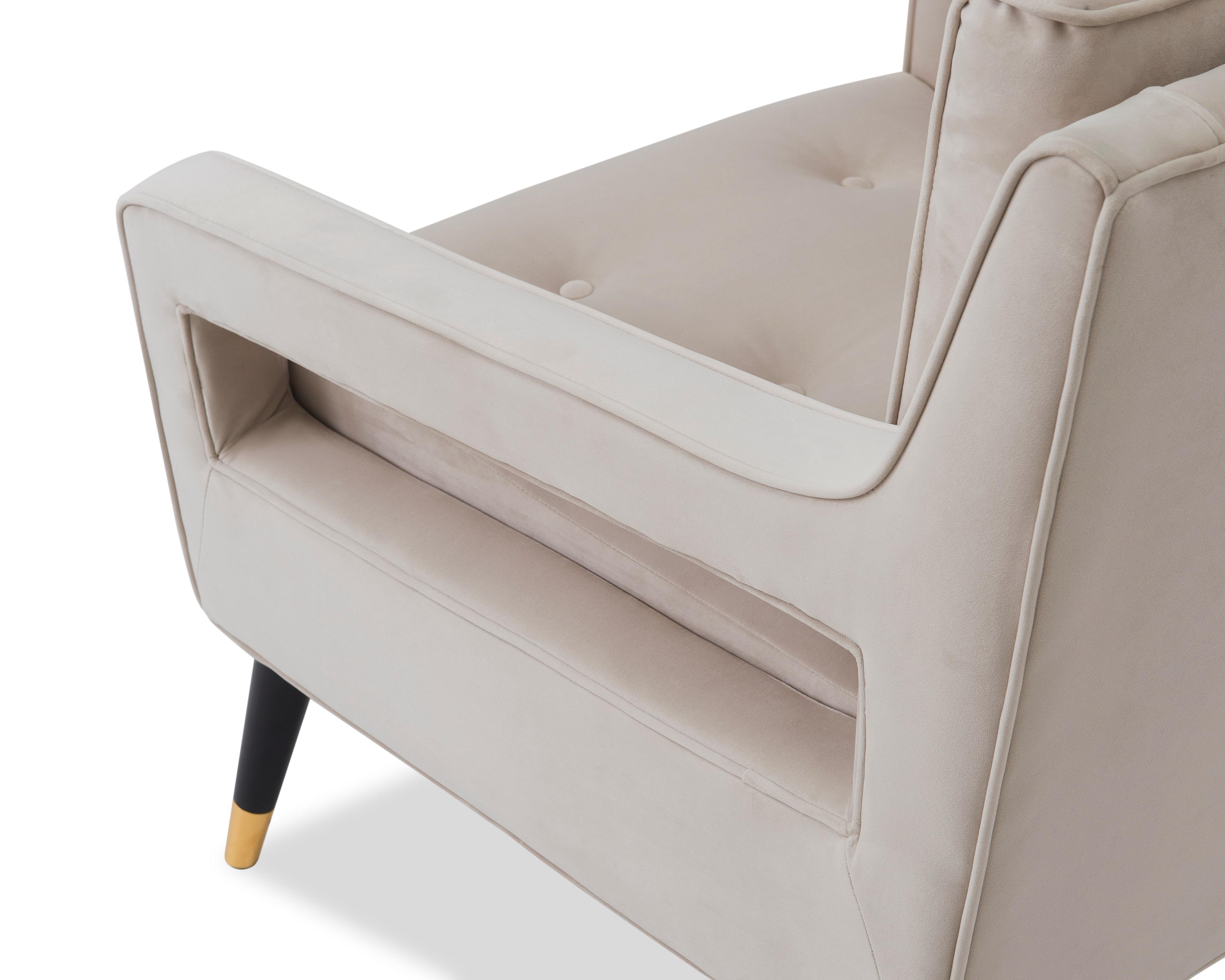 Liang & Eimil Edward Occasional Chair – Tan Beige Velvet (4)