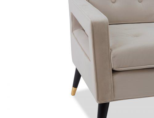 Liang & Eimil Edward Occasional Chair – Tan Beige Velvet (6)