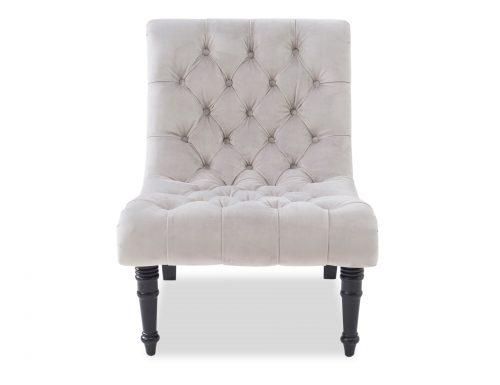 Liang & Eimil Kent Occasional Chair – Fog Grey Velvet (1)