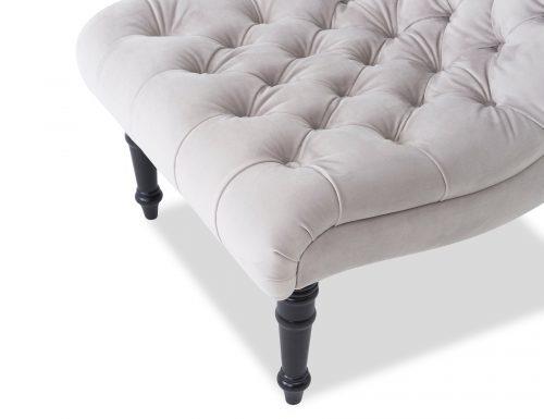 Liang & Eimil Kent Occasional Chair – Fog Grey Velvet (3)