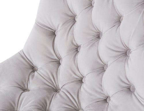 Liang & Eimil Kent Occasional Chair – Fog Grey Velvet (5)