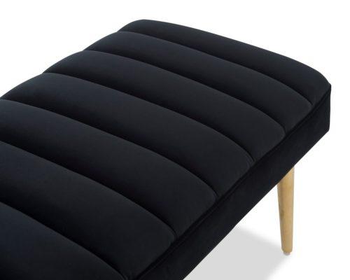 Liang & Eimil Rosso Bench – Pitch Black Velvet (4)