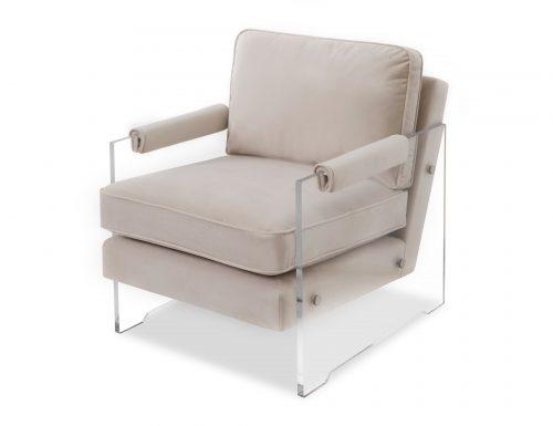 Liang & Eimil Roxy Occasional Chair – Tan Beige Velvet (1)