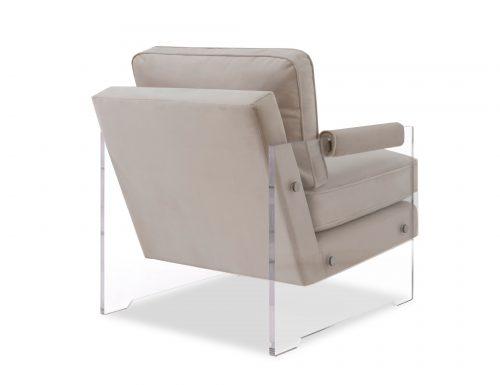 Liang & Eimil Roxy Occasional Chair – Tan Beige Velvet (2)