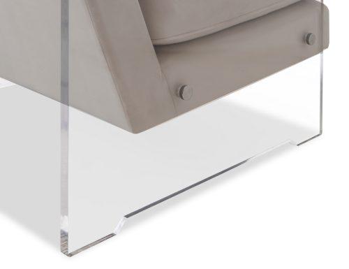 Liang & Eimil Roxy Occasional Chair – Tan Beige Velvet (3)