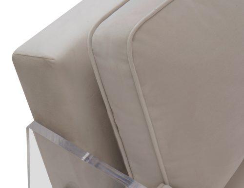 Liang & Eimil Roxy Occasional Chair – Tan Beige Velvet (5)