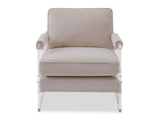 Liang & Eimil Roxy Occasional Chair – Tan Beige Velvet (6)