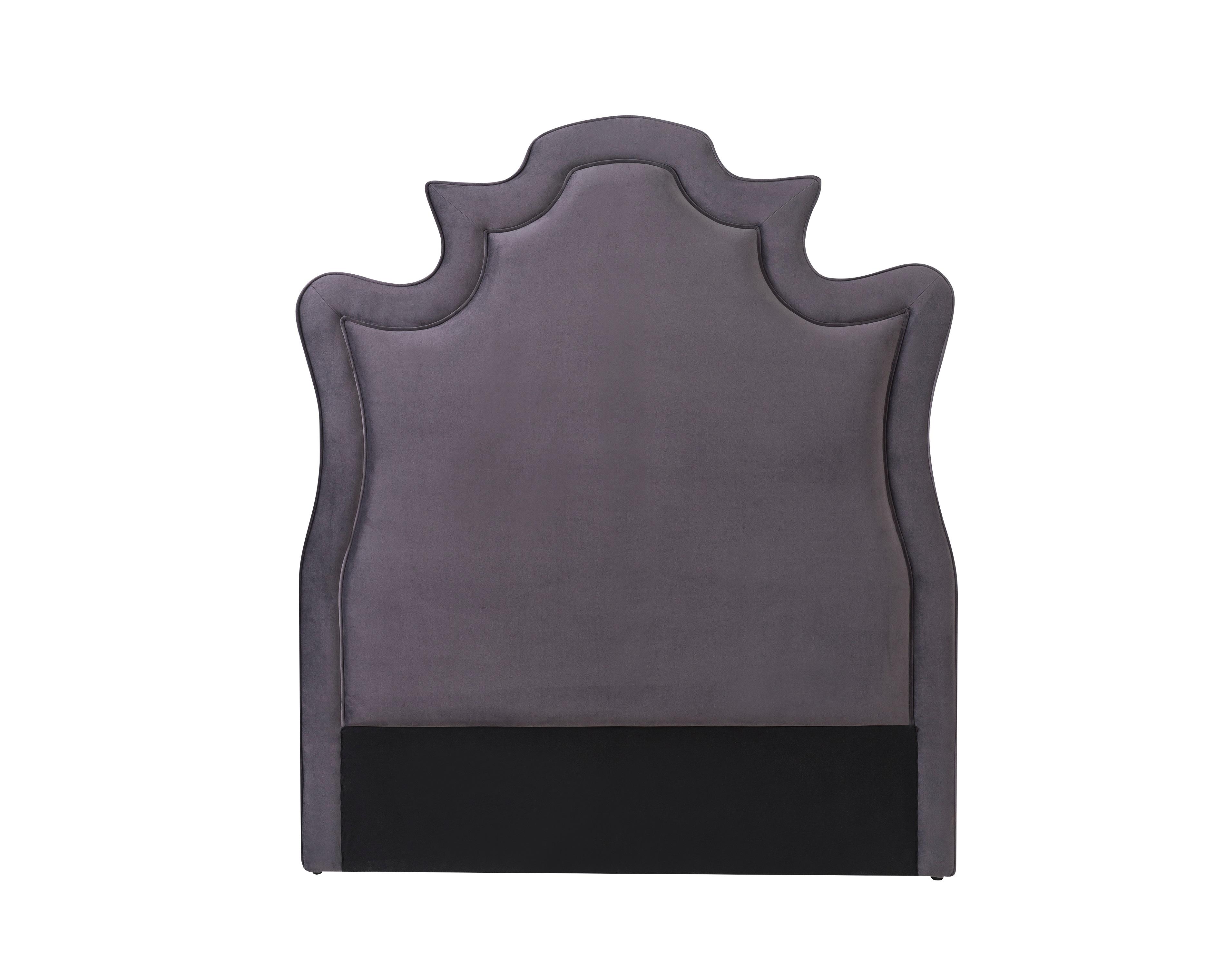 Liang & Eimil Royale Headboard – Night Grey Velvet (1)