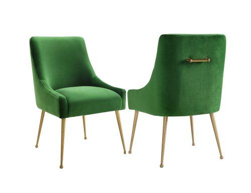 Liang & Eimil – Cohen Dining Chair – Fern Green Velvet (1)
