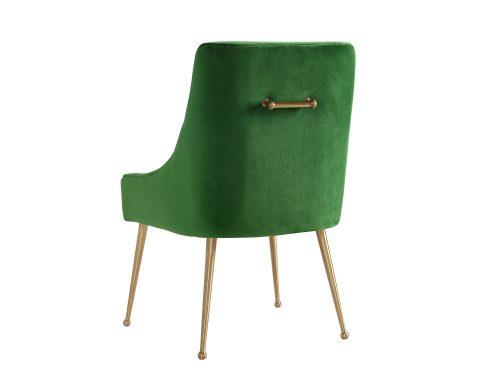 Liang & Eimil – Cohen Dining Chair – Fern Green Velvet (2)