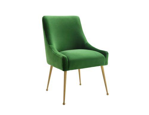 Liang & Eimil – Cohen Dining Chair – Fern Green Velvet (3)
