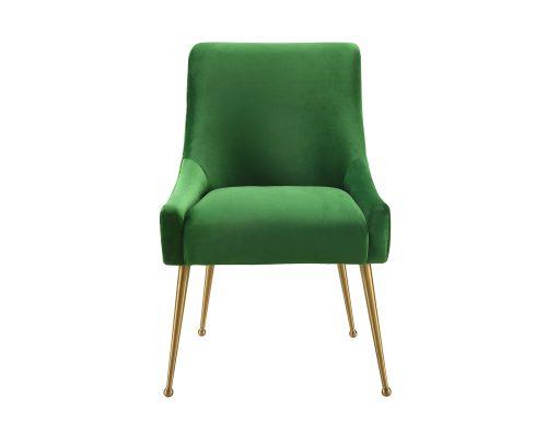 Liang & Eimil – Cohen Dining Chair – Fern Green Velvet (4)