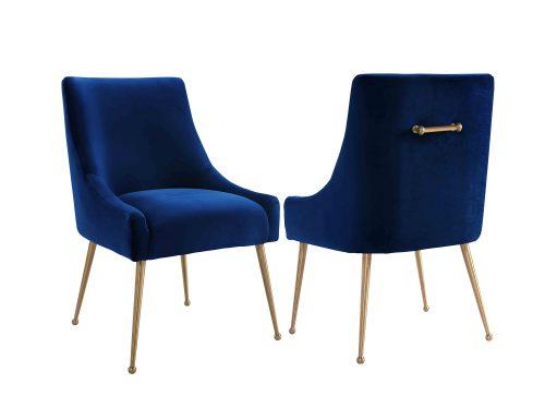 Liang & Eimil – Cohen Dining Chair – Marine Blue Velvet (1)