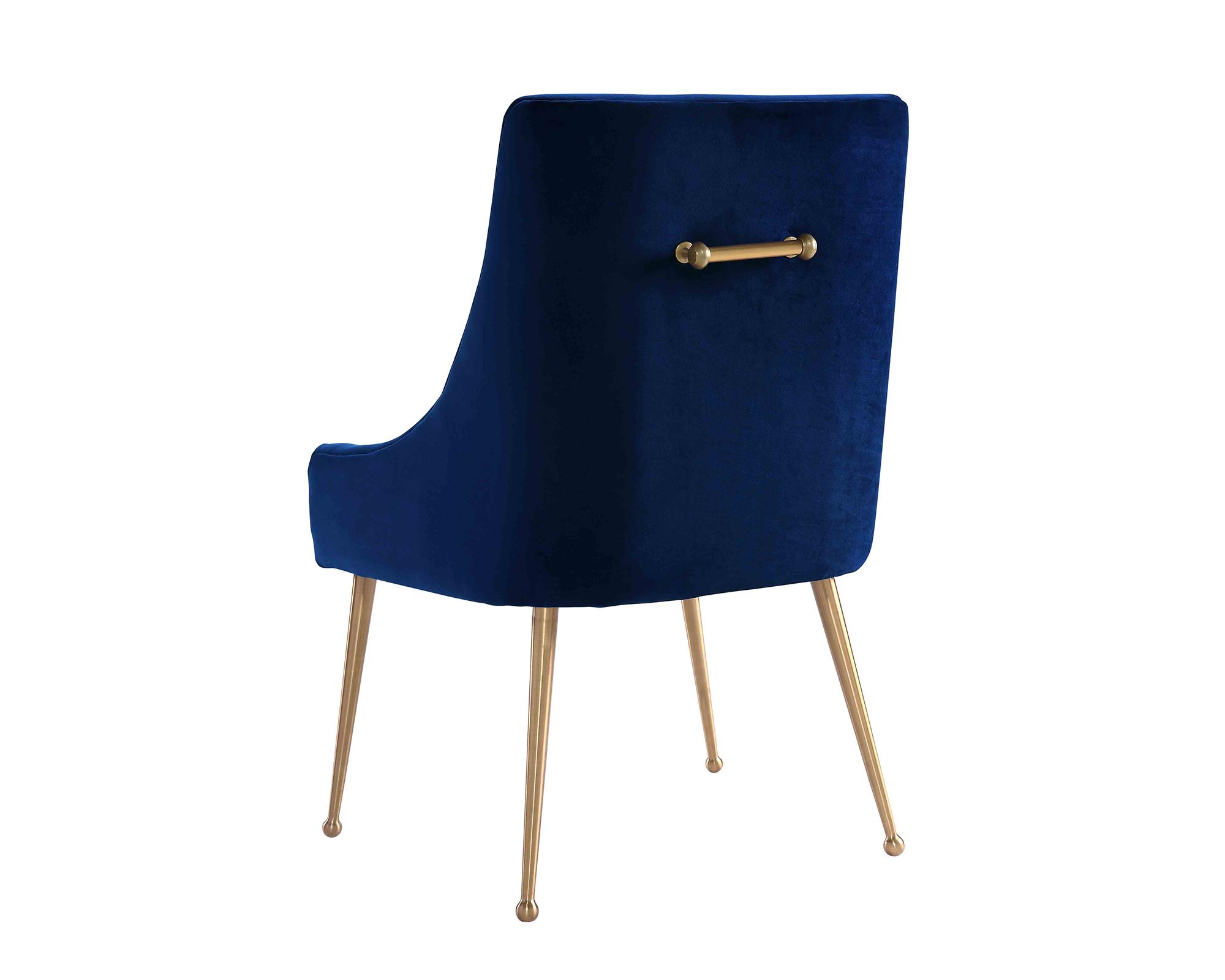 Liang & Eimil – Cohen Dining Chair – Marine Blue Velvet (2)
